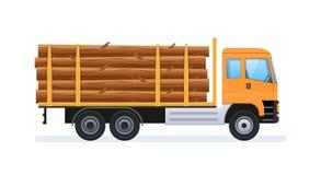 Produzione del legno e silvicoltura Trasporto delle risorse naturali Fotografia Stock Libera da Diritti