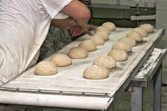 Produzione del pane Fotografia Stock