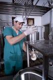 Produzione del yogurt Fotografie Stock