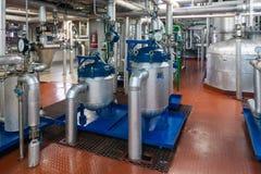 Produzione dell'impianto industriale specializzato degli additivi alimentari e dei grassi fotografia stock libera da diritti