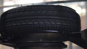 Produzione delle gomme di automobile archivi video