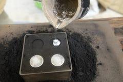 Produzione delle monete di alluminio Fotografia Stock Libera da Diritti