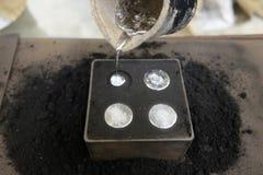 Produzione delle monete di alluminio Immagini Stock
