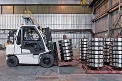 Produzione delle ruote d'acciaio del treno Immagine Stock Libera da Diritti