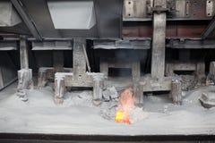 Produzione di alluminio tramite elettrolisi Fotografia Stock