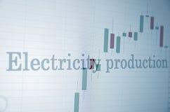 Produzione di elettricità Fotografia Stock Libera da Diritti