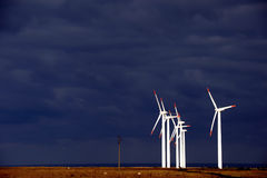 Produzione di energia alternativa e natura-amichevole Fotografie Stock Libere da Diritti