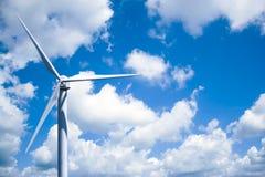 Produzione di energia della turbina di vento Immagine Stock Libera da Diritti