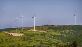 Produzione di energia elettrica Fotografia Stock