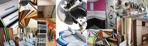 Produzione di mobilia Fotografie Stock Libere da Diritti