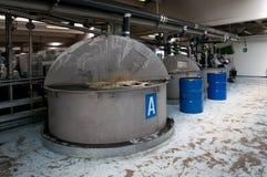 Produzione di olio industriale Fotografie Stock