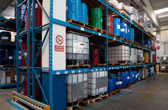 Produzione di olio industriale Immagini Stock Libere da Diritti
