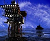 Produzione di petrolio Fotografie Stock Libere da Diritti