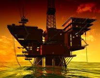 Produzione di petrolio Fotografia Stock