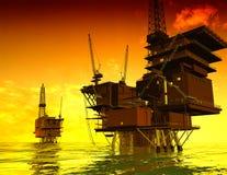 Produzione di petrolio Immagine Stock