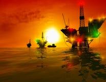 Produzione di petrolio Fotografie Stock