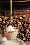 Produzione di sale tradizionale, Tailandia Immagine Stock Libera da Diritti
