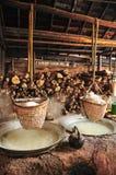 Produzione di sale tradizionale, Tailandia Immagine Stock