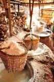 Produzione di sale tradizionale, Tailandia Immagini Stock Libere da Diritti