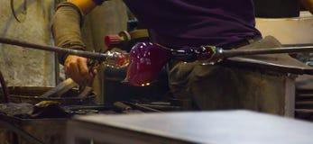 Produzione di vetro tradizionale in Murano, Italia fotografie stock libere da diritti