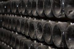 Produzione di vino spumante Fuoco selettivo fotografia stock