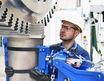 Produzione e progettazione delle turbine a gas in un fac industriale moderno fotografia stock
