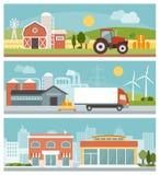Produzione e vendita al dettaglio illustrazione vettoriale