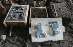 Produzione liquida della colata del metallo Fotografia Stock Libera da Diritti