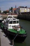 Proef boot in Vlissingen stock afbeeldingen