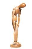 Proef droevige manequin Stock Foto's