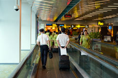 Proef en stewardess Stock Fotografie