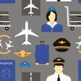 Proef en stewardess op het werk vector illustratie