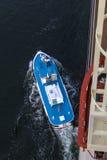 Proefboothoofden vanaf cruiseschip Stock Foto