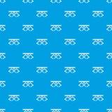 Proefkader voor het controleren van het geduldige naadloze blauw van het visiepatroon stock illustratie