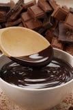 Proevende chocolade. Royalty-vrije Stock Afbeelding