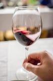 Proevende rode wijn royalty-vrije stock fotografie