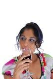 Proevende wijn Stock Foto