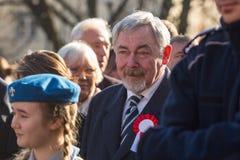 prof Jacek Majchrowski ist Bürgermeister der königlichen Hauptstadt von Krakau Lizenzfreies Stockfoto