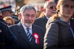 prof Jacek Majchrowski ist Bürgermeister der königlichen Hauptstadt von Krakau Lizenzfreie Stockbilder