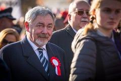 prof Jacek Majchrowski ist Bürgermeister der königlichen Hauptstadt von Krakau seit 2002 Lizenzfreies Stockfoto