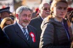 prof Jacek Majchrowski ist Bürgermeister der königlichen Hauptstadt von Krakau seit 2002 Lizenzfreie Stockfotografie