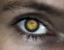 Profecia da visão do olho da guerra de mundo Foto de Stock Royalty Free