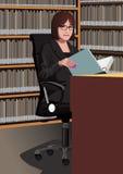 Profesión fijada: bibliotecario Ilustración del Vector