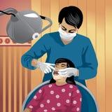 Profesión fijada: dentista Ilustración del Vector