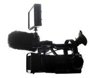 profesional摄象机的剪影 库存图片