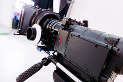 Profesional cinema camera Royalty Free Stock Image