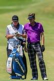 Profesional David Lynn Caddy del golf Imagen de archivo