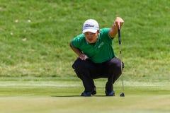 Profesional Jin Jeong Green del golf Fotos de archivo libres de regalías