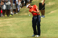 Profesional Joost Luiten Swinging del golf Foto de archivo