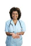 Profesional médico - en buenas manos Imagen de archivo libre de regalías